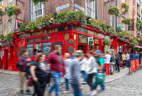 Temple Bar, ein Stadtteil am Südufer des Flusses Liffey im Zentrum von Dublin