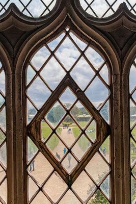 Ausblick vom Malahide Castle in den Garten