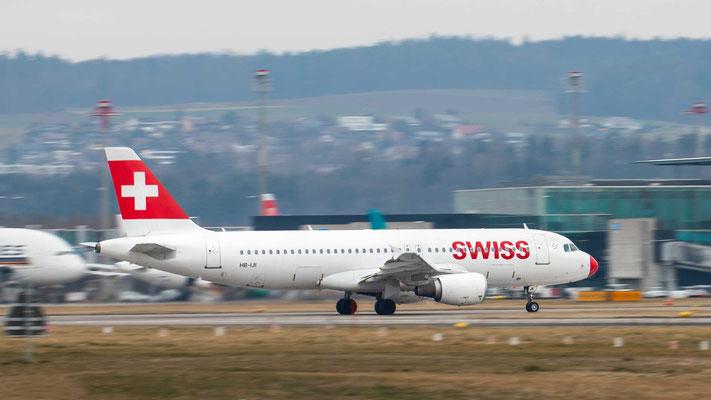 Die rote Nase – Swiss HB-IJI – A320 – 23.02.2019