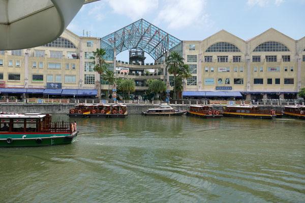 Boat Quay Jetty - Marina Bay - Singapur - travelumdiewelt.de