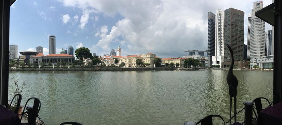 Marina Bay - Riverwalk - Singapur - travelumdiewelt.de