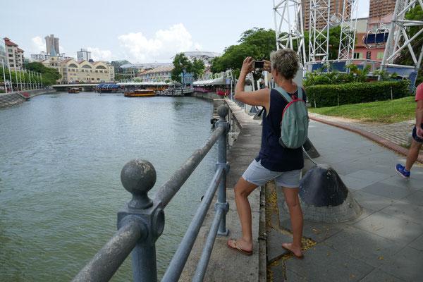 Riverwalk - Marina Bay - Singapur - travelumdiewelt.com