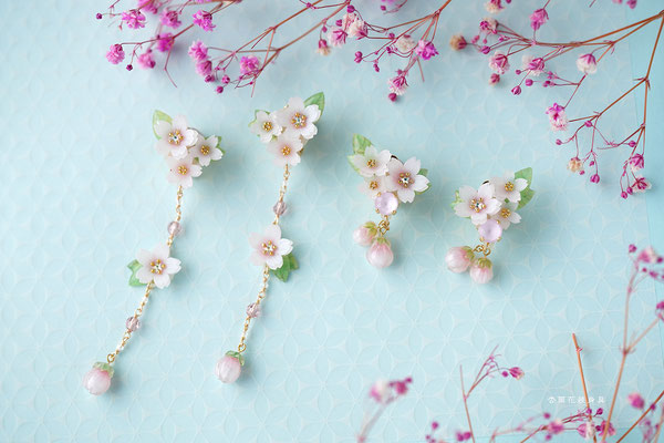 桜モチーフのアクセサリー