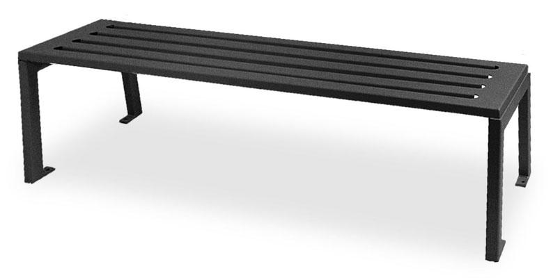 Sitzbank Silaos ohne Rückenlehne komplett aus Stahl