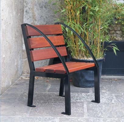 Sitzstuhl Silaos mit Armlehne Bogenförmig oder Klassik