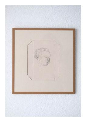 Pinkus, 2010, Bleistift auf Karton, Glas, Klebeband, 23,5 x 22,5 cm