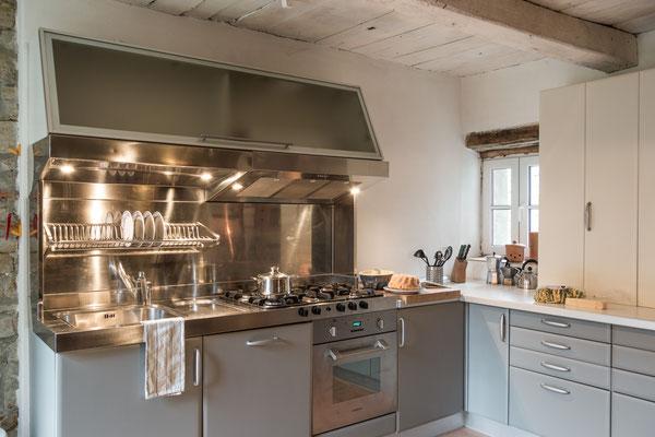Eine moderne Küchenzeile...