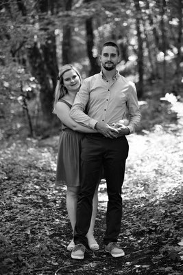 Séance photo couple engagement Cyrielle et Vincent - Nans - Doubs