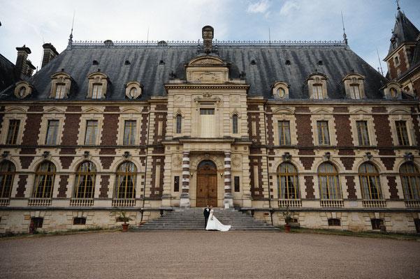 Mariage L&M - Photo de couple - Château de Villersexel- Haute-Saône