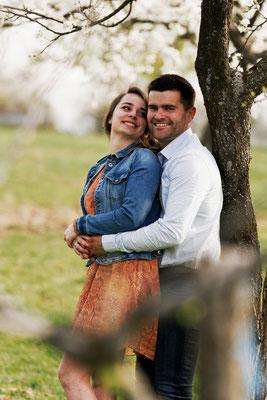 Séance photo couple engagement Mélodie et Loïc - Grammont - Haute-Saône