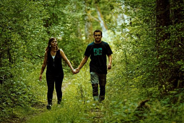 Séance photo couple engagement Marie et Max - Fleurey-Les-Faverney - Haute-Saône