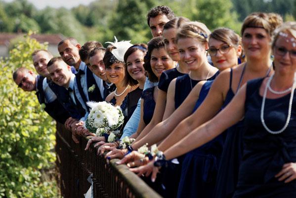 Mariage J&M - Photo de groupe - Passavant la Rochère- Haute-Saône