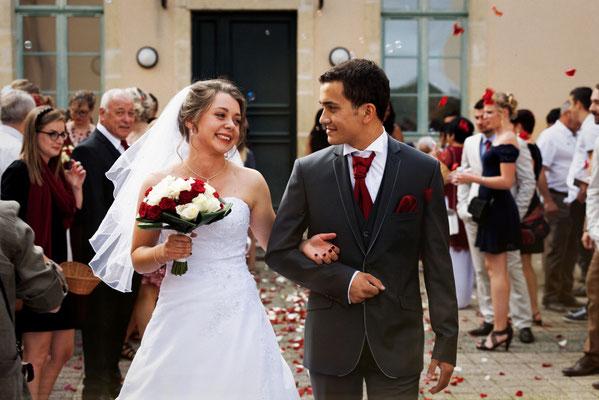 Mariage M&M - Sortie de la mairie - Fleurey les Faverney - Haute-Saône