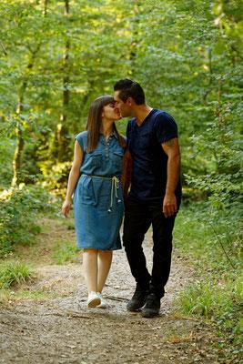 Séance photo couple engagement Anna et Jo - Source du Planey - Haute-Saône