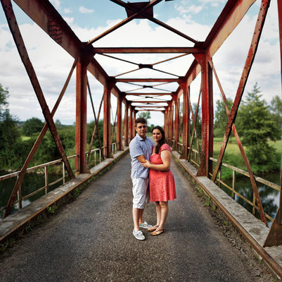 Séance photo couple engagement Marie-Elise et Jérôme - Pont-Sur-L'Ognon - Haute-Saône