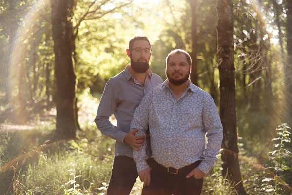Séance photo couple engagement Bruno et Julien - Navenne - Haute-Saône