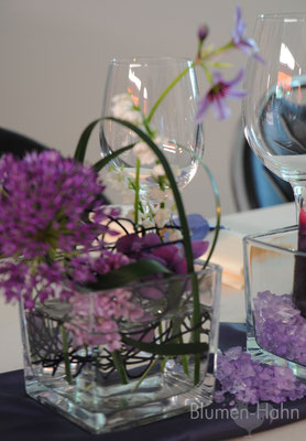 Violett Tischdekoration