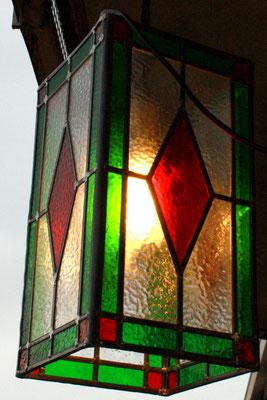 Lantaarn Ruit rood groen. Artikelnr. L19