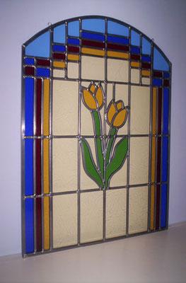 Voorzetraam Tulp geel. Artikelnr. L08