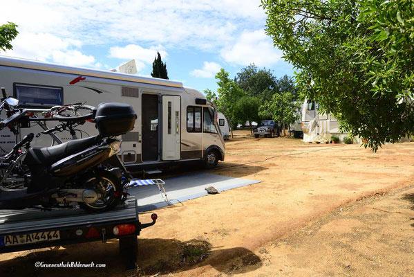 Portugal; Armação de Pera; Campingplatz