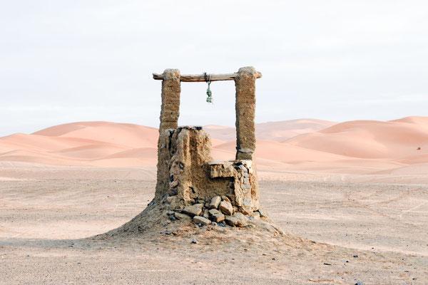 Marokko; Wüste; Brunnen
