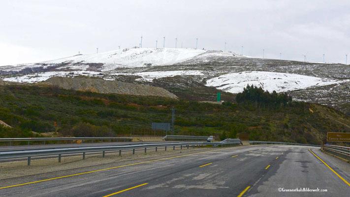 Die Anfahrt bestand im wesentlichen aus einer kostenfreien Autobahn auf spanischer Seite