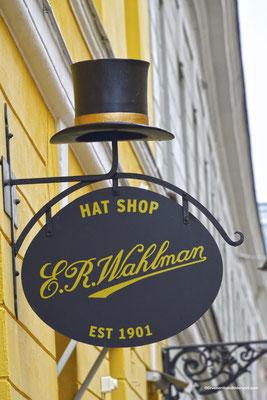 """Naßensschild """"Hut Shop"""""""