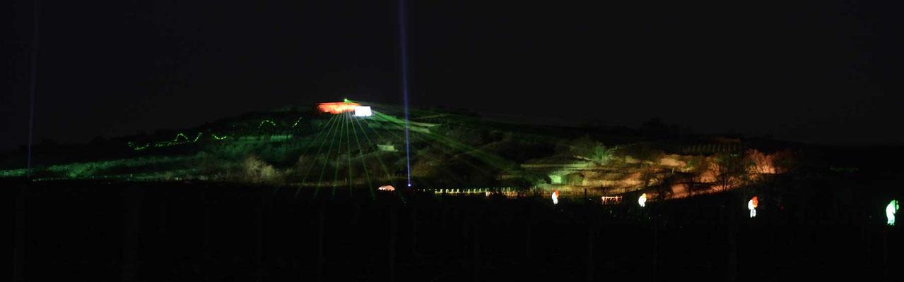 Lasershow in den Weinbergen