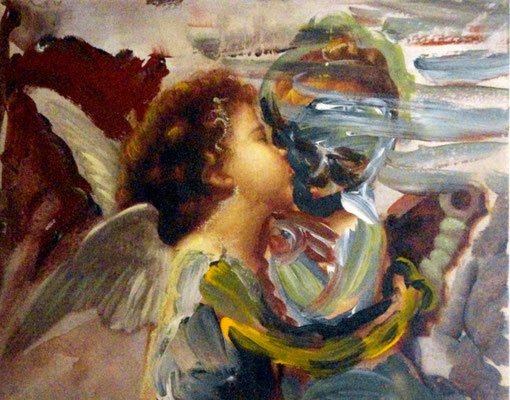 Übermalung: Engel I