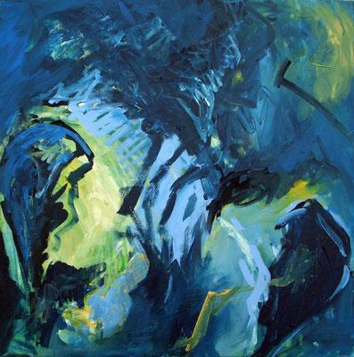 Acrylmalerei: Kreuzungen (organisch) I