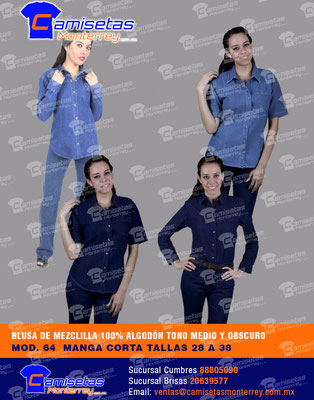 blusas y camisas personalizadas con bordado