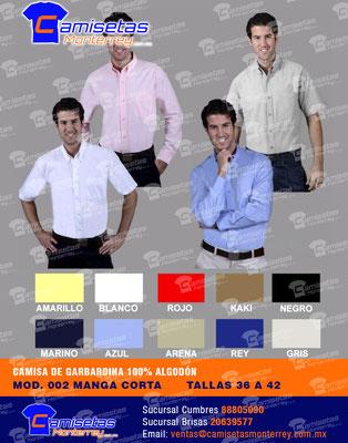 camisas con logo bordado
