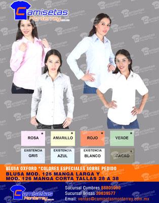 blusas empresariales con logo bordado