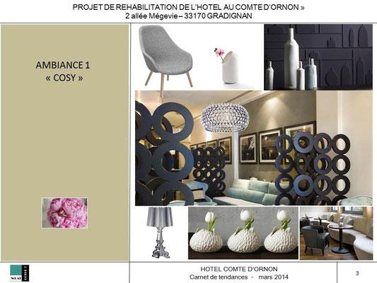 Hôtel COMTE D'ORNON - proposition ambiance 1