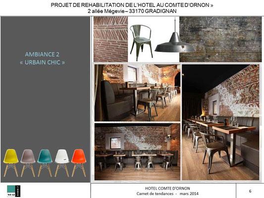 Hôtel COMTE D'ORNON - proposition ambiance 2