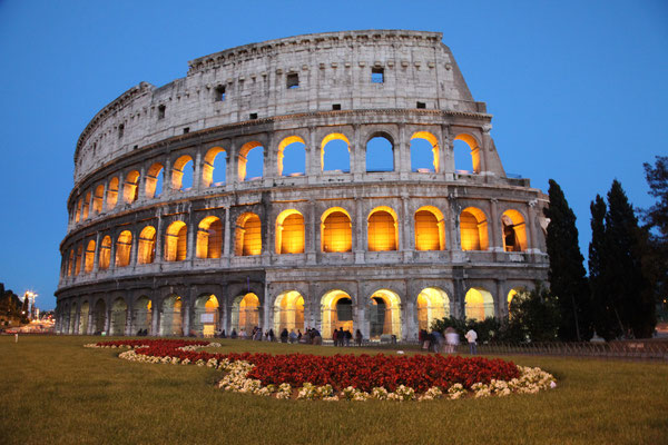 Kolosseum in Rom - Blaue Stunde