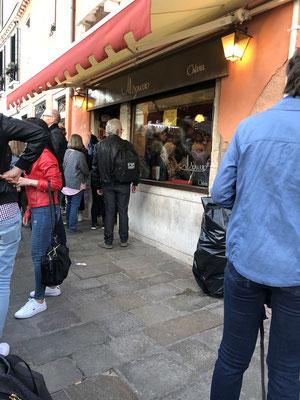 Die Osteria al Squero, hier herrscht stets grosser Andrang