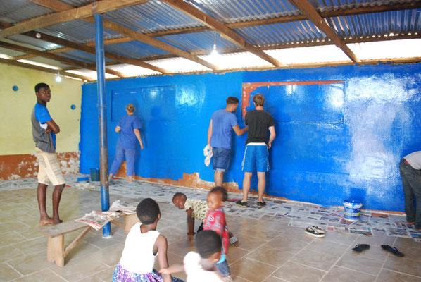 Renovierungsarbeiten im Waisenhaus
