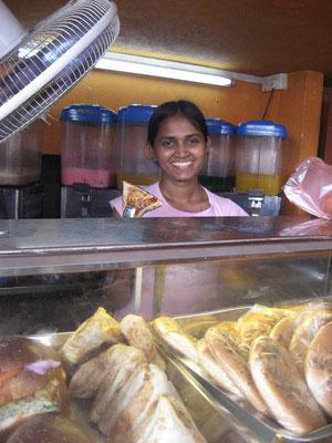Roti Verkäuferin in Galle