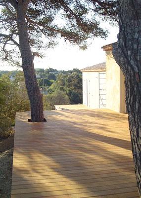 terrasse, en respectant la nature