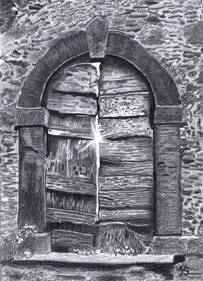 Alte Tür in der Tocana - was kommt danach?  320.-€  Repro 1/4  2/2019  41X53 cm  mit weißem Passepartout und schwarzem Holzrahmen  180.-€   Repro 2/4  3/2019  auf leinwand mit schwarzem Schattenfugenrahmen.