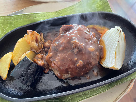 特選飛騨牛のこだわりハンバーグ(ご飯・玉葱スープ・サラダ付)