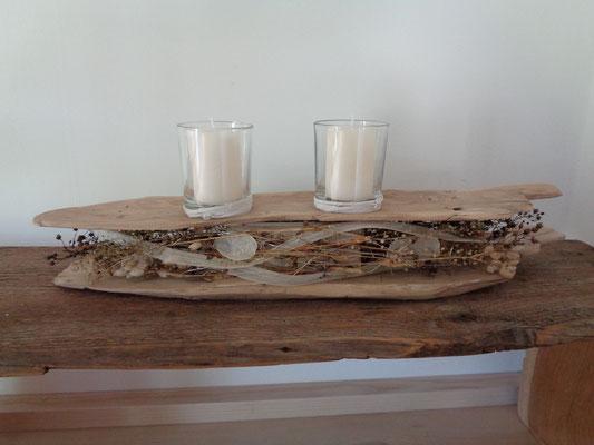 Tischdekoration Tischdeko Schwemmholz