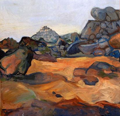 Sahara 6, 70x70cm, huile, 2010, Algérie