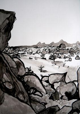encre de chine 2, 42x59cm, 2010, Algérie