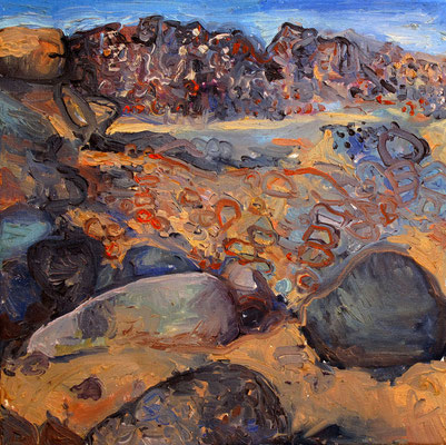 Sahara 5, 40x40cm, huile, 2010, Algérie, vendu