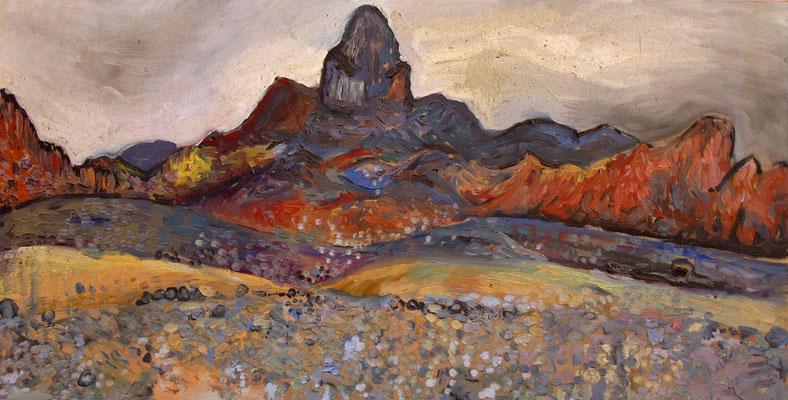 Sahara 14, 100x50cm, huile, 2010, Algérie