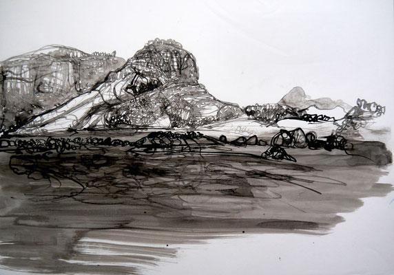 encre de chine 10, 42x59cm, 2010, Algérie