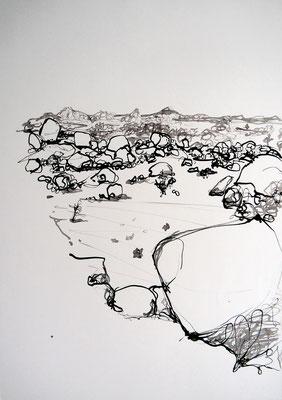 encre de chine 5, 42x59cm, 2010, Algérie