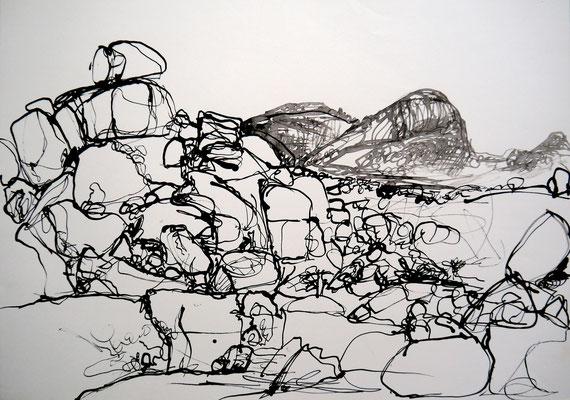 encre de chine 11, 42x59cm, 2010, Algérie